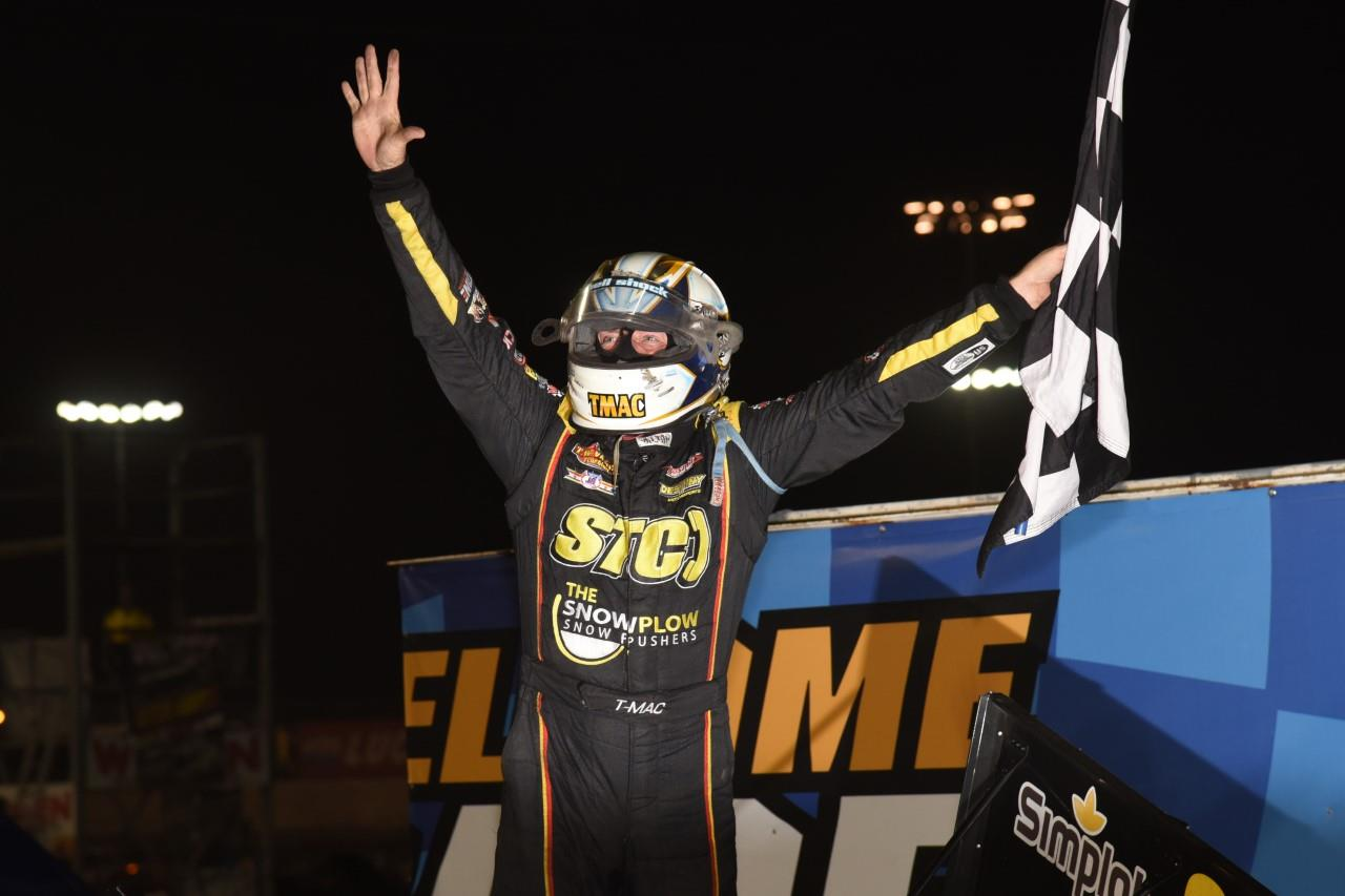 Terry McCarl won his fifth career Knoxville 360 Nationals Saturday (Paul Arch Photo)