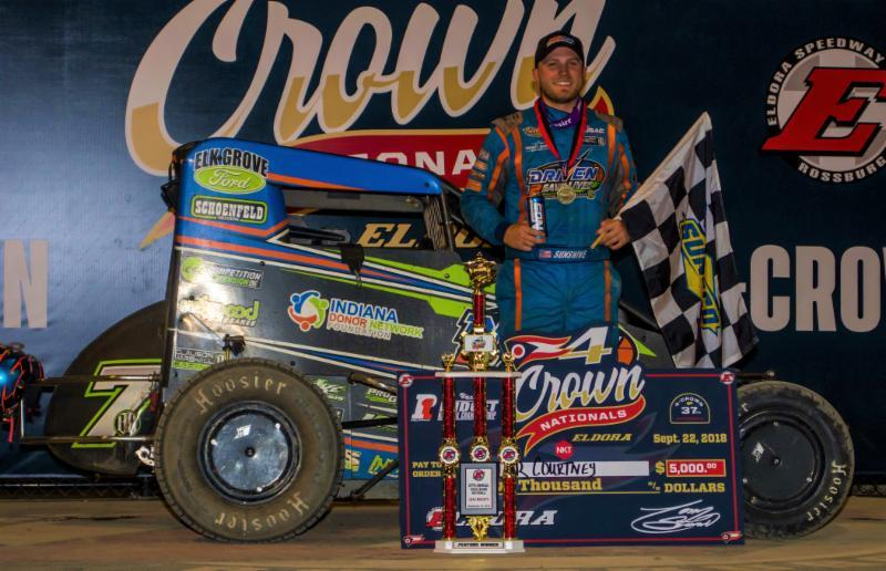 Tyler Courtney won the midget event at Eldora's Four Crown Saturday (Ryan Sellers Photo)