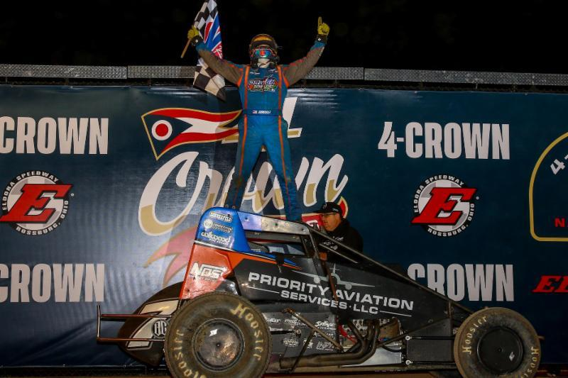 Tyler Courtney won the sprint and midget portion of Eldora's Four Crown Saturday (Rich Forman Photo)