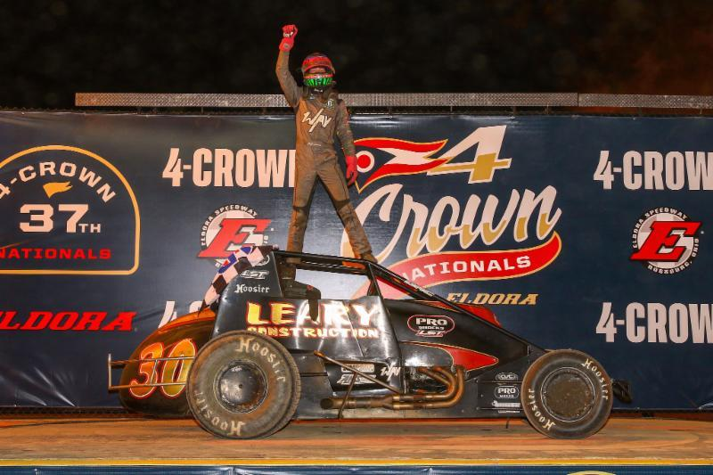 CJ Leary won the Silver Crown event at Saturday's Four Crown at Eldora (Rich Forman Photo)