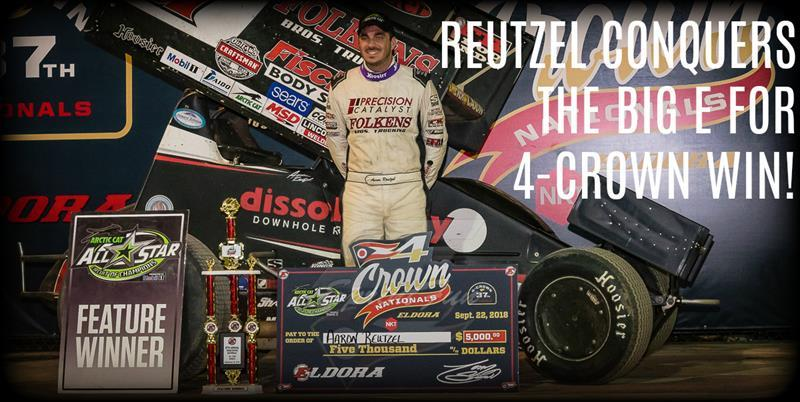 Aaron Reutzel won the All Star leg of the 4-Crown at Eldora Saturday (Dan McFarland Photo)