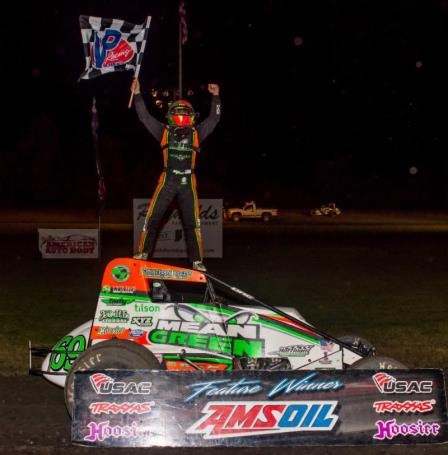 KTJ was triumphant at the James Dean Classic in Gas City Friday (Ryan Sellers Photo)