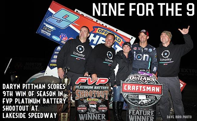 Daryn PIttman picked up his ninth WoO win of the season Friday at Lakeside (Dave Biro/DB3 Imaging)