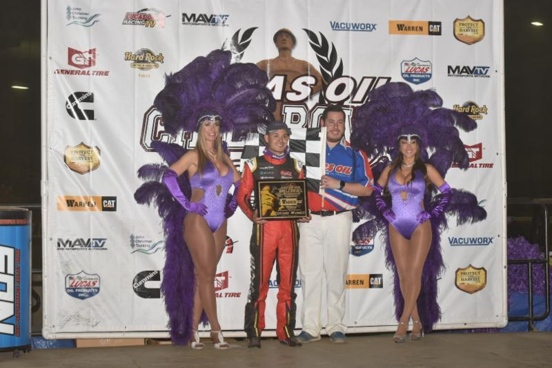 Kyle Larson was triumphant on night #2 of the Chili Bowl Tuesday (Buck Monson/Chili Bowl Photo)
