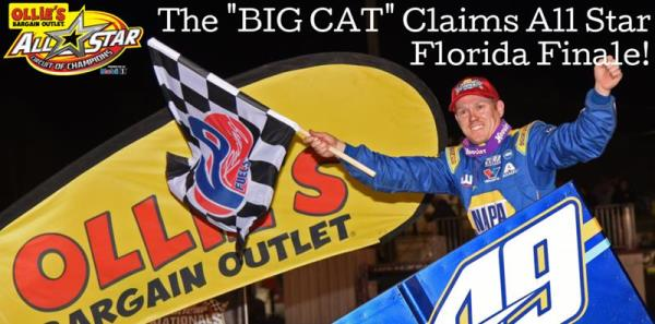 "The ""Big Cat"" Earns All Star Florida Finale Victory at Volusia Speedway Park"