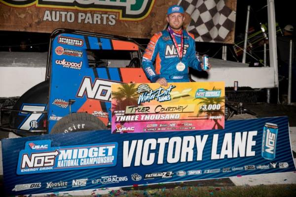 Tyler Courtney Continues Winter Dirt Games Success in USAC Midget Opener