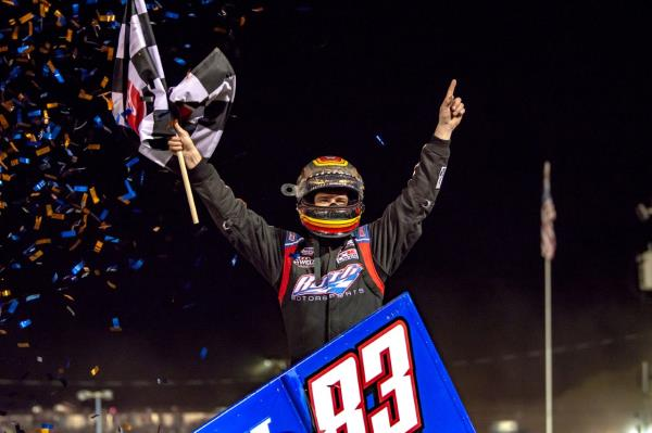 Daryn Pittman Powers to Opening Night Victory at Volusia Speedway Park