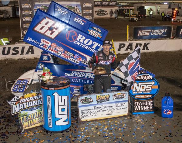Daryn Pittman Goes Two-for-Two at Volusia Speedway Park