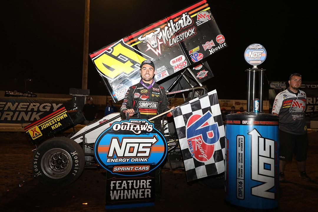 David Gravel won with the WoO Saturday at Arizona Speedway (WoO Photo)