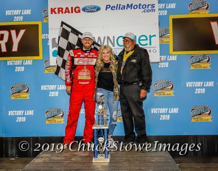 Brian Brown won Knoxville's opener Saturday (Chuck Stowe Image)