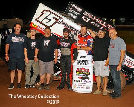 Sam Hafertepe Jr. took the ASCS stop at Lawton Wednesday (Lonnie Wheatley Photo) (Video Higlights from Racinboys.com)