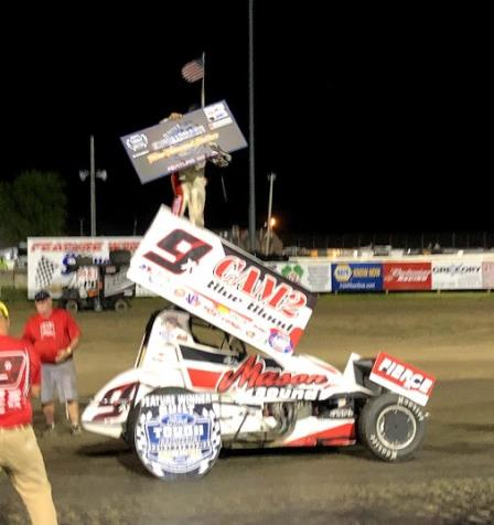 Paul Nienhiser picked up the $3,000 MOWA win at Lee County Speedway Friday