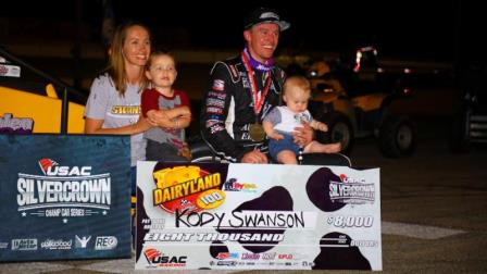 Friday night at Madison, Kody Swanson earned his record-extending 27th career USAC Silver Crown victory and 28th career pole position. (Rich Forman Photo) (Highlight Video from FloRacing.com)
