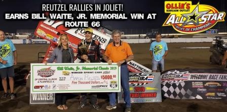 Aaron Reutzel won with the All Stars at Joliet (ASCoC Photo) (Highlight Video from SpeedShiftTV.com)