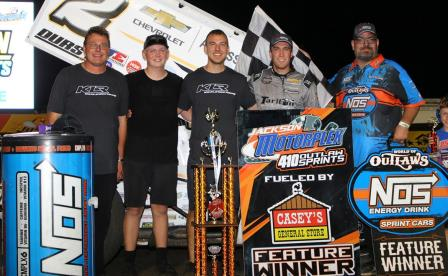 Carson Macedo won at the Jackson Nationals Friday (Dave Biro - DB3 Imaging) (Video Highlight from DirtVision.com)