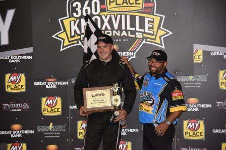 Ryan Giles won Night #1 of the Knoxville 360 Nationals (Paul Arch Photo) (Video Highlight from DirtVision.com)