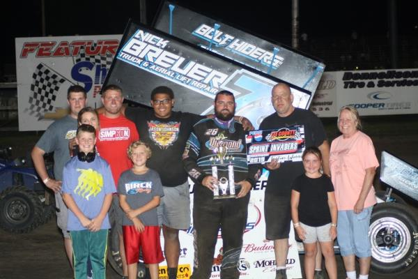 Kaley Gharst Cops First Sprint Invaders Win Since 2012 in Donnellson!