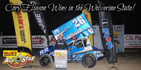 Cory Eliason Gets by Dale Blaney to Score All Star Victory at I-96 Speedway
