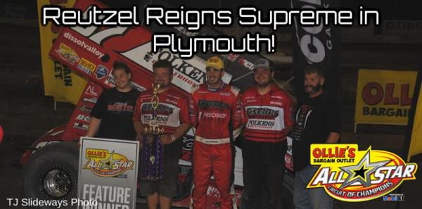 Aaron Reutzel Scores Seventh All Star Victory of 2019 with Wire-to-Wire Performance at Plymouth