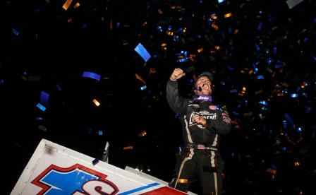 Logan Schuchart celebrates his sweep with the WoO at Skagit (Dave Biro - DB3 Imaging) (Video Highlight from DirtVision.com)