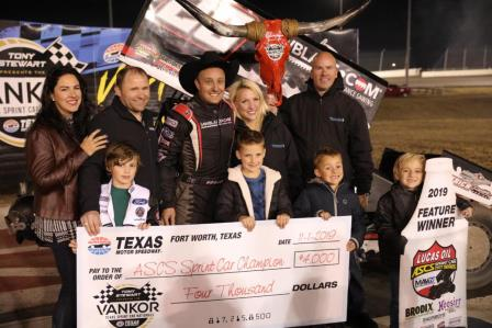 Scott Bogucki won the season finale for ASCS at Texas Motor Speedway.  Sam Hafertepe Jr. won the championship (David Campbell Photo) (Video Highlights from Racinboys.com)