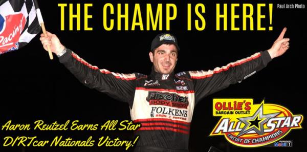 Aaron Reutzel Scores Thursday Night DIRTcar Nationals Victory for First-ever All Star Win at Volusia Speedway Park