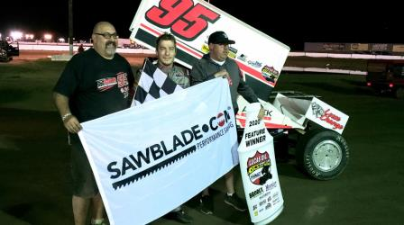 Matt Covington won the ASCS opener at Canyon Speedway Park (ASCS Photo) (Video Highlights from Racinboys.com)