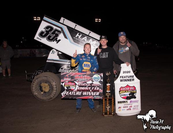 Brad Sweet Unstoppable at Merced Speedway with the Lucas Oil American Sprint Car Series