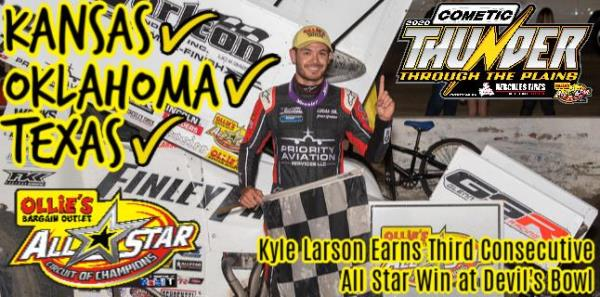 Kyle Larson Earns Third Consecutive All Star Victory During Wednesday Visit to Devil