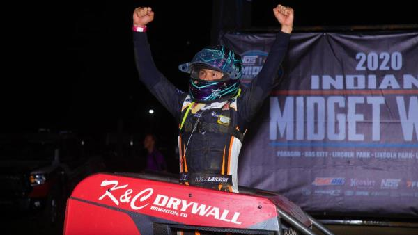 Unstoppable Kyle Larson Wins Paragon Indiana Midget Week Opener
