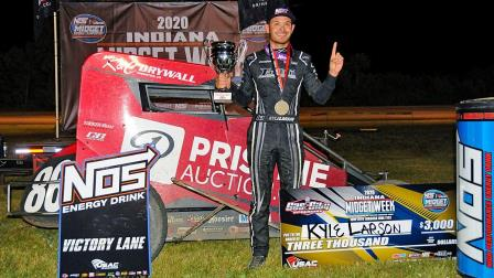 #86 Kyle Larson won his second straight Indiana Midget Week victory of 2020 Wednesday at Gas City I-69 Speedway (Ryan Sellers Photo) (Video Highlights from FloRacing.com)