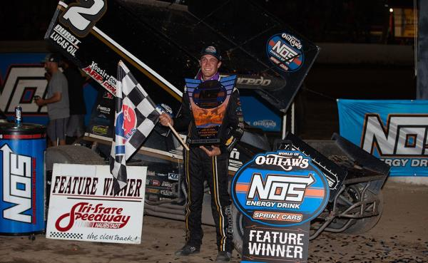 By Inches: Carson Macedo Wins Thriller at Haubstadt During Historic Broadcast