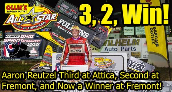 Aaron Reutzel Scores Speedweek Victory During Second Stop at Fremont Speedway