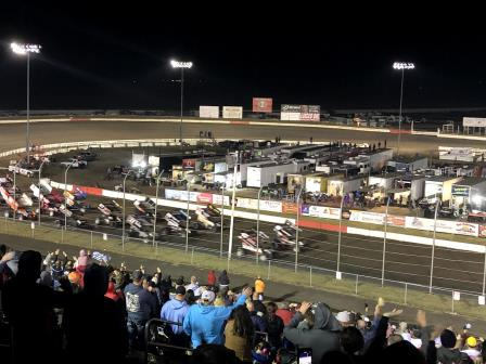 Missing Man Formation at I-80 Speedway for Stewart Alley (Video Highlights from Racinboys.com)