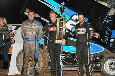 Brooke Tatnell captured his fourth career Jerry Richert Memorial Saturday at Cedar Lake Speedway near New Richmond, WI