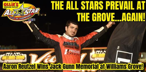 Aaron Reutzel Wins Jack Gunn Memorial at Williams Grove Speedway