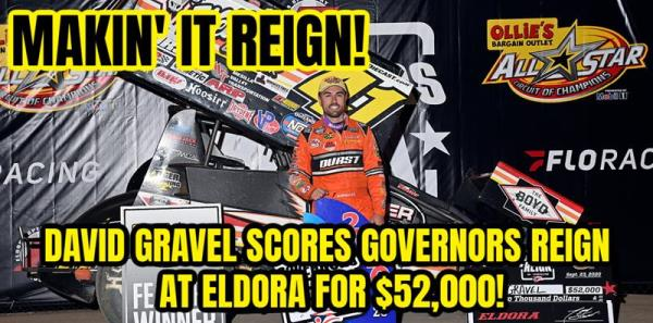 David Gravel Scores Governors Reign Title at Eldora for $52,000