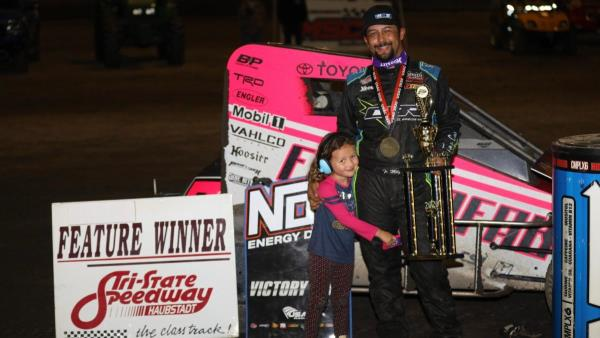 Finally! Thomas Meseraull Makes it to USAC Midget Victory Lane at Harvest Cup