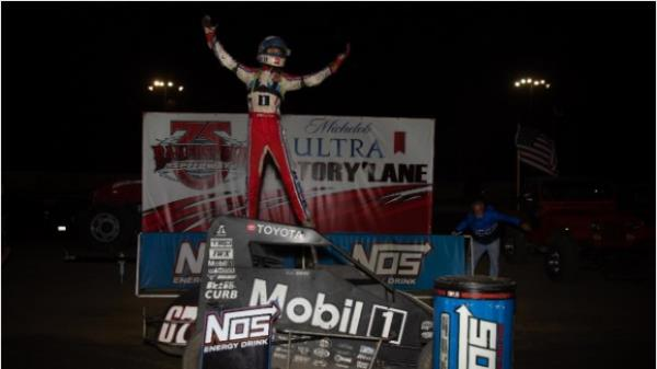 Buddy Kofoid Outduels Kyle Larson for Bako Win; Chris Windom Leads Standings by 1