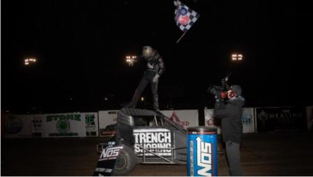 Tanner Thorson started and finished the 2020 USAC NOS Energy Drink National Midget campaign with a victory, closing out with his series-leading seventh win of the year in the season finale at California's Merced Speedway (Rich Forman Photo) (Video Highlights from FloRacing.com)