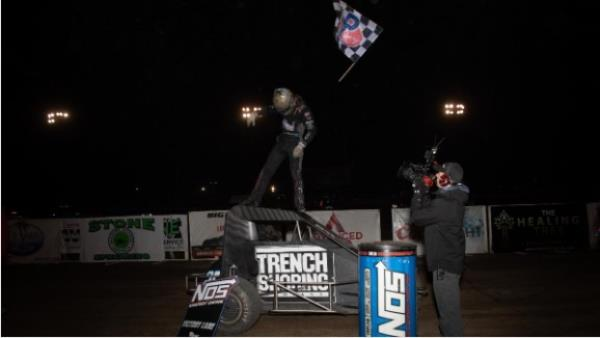 Tanner Thorson Closes USAC Midget Season the Same Way He Started It: In Victory Lane