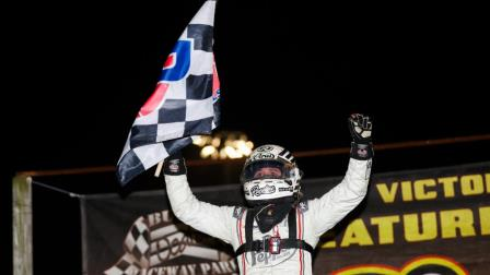 Kevin Thomas Jr. erased a 16-month winless drought with Thursday's USAC AMSOIL National Sprint Car opening night victory at Bubba Raceway Park in Ocala, Fla. (DB3, Inc. Photo) (Video Highlights from FloRacing.com)