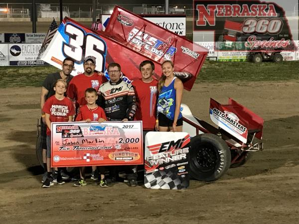 Jason Martin Parks it at Junction Motor Speedway!
