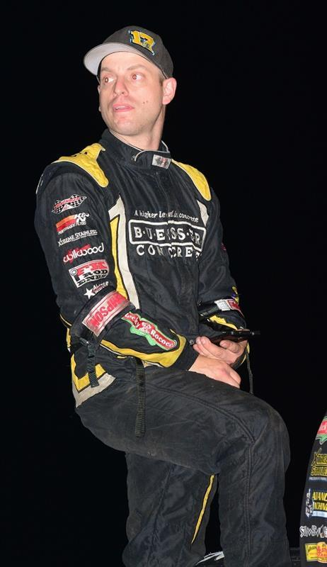 Bill Balog picked up his first Midwest Thunder Sprint Cars win Thursday at Sun Prairie and finished second at 34 Raceway with the All Stars Sunday (Doug Johnson Photo)