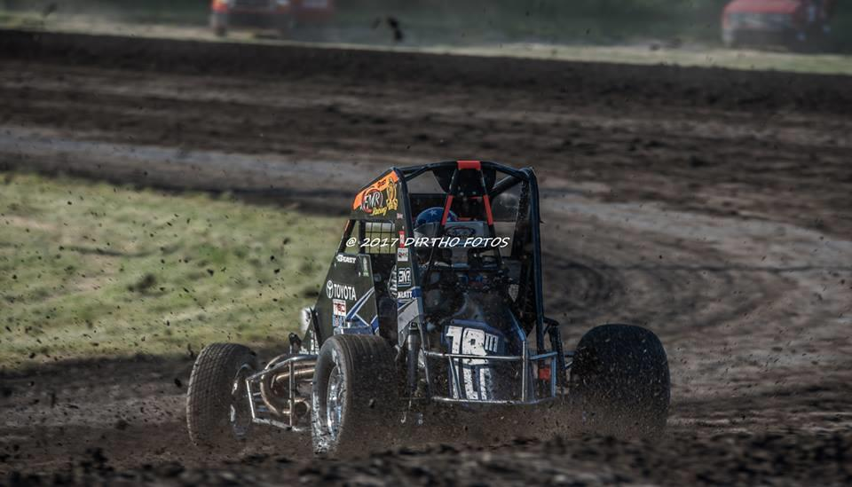 Brady's best finish during Indiana Midget Week came at Gas City (Dean Yoder – Dirtho Fotos)