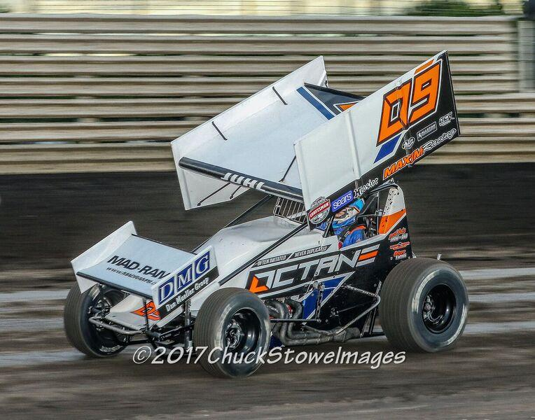 Matt Juhl stormed to his first ever win at the Knoxville Raceway Saturday (Chuck Stowe Images)