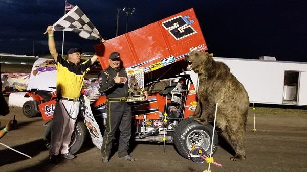 Wayne and Adam the Bear are more than excited in Montana (ASCS Photo)