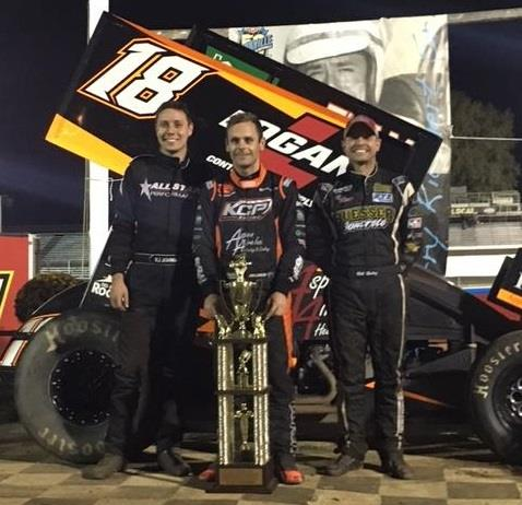 RJ finished second in the Jerry Richert Memorial at Cedar Lake Saturday in the Leyton #19 (Ian Madsen, center, won with Bill Balog, right, third)