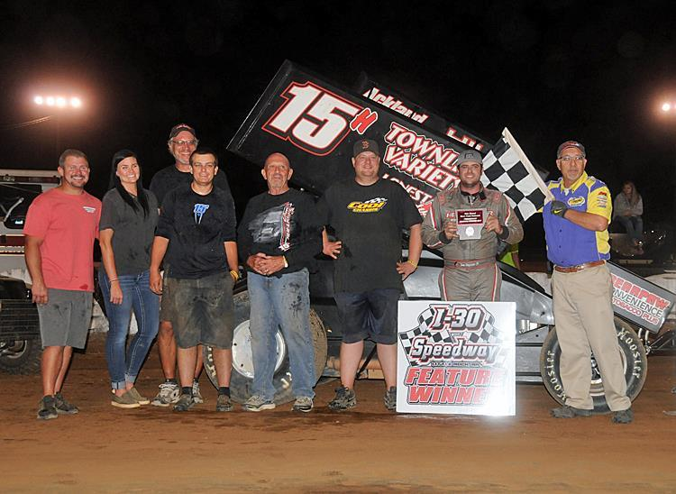 Sam won his 19th feature of the year Friday in Little Rock (STN Photo)