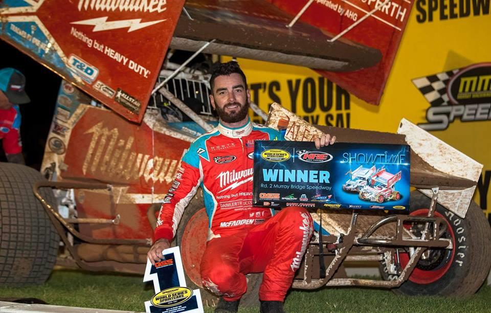 James McFadden took the WSS stop at Murray Bridge on December 27 (Stephen Pickering Photo)